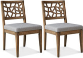Set of 2 Crackle Dining Chairs, Direct Ship