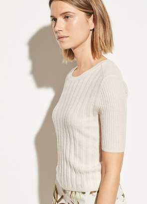 Cashmere Elbow Sleeve Pullover