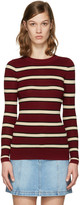Etoile Isabel Marant Burgundy Striped Derring Pullover