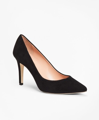 Brooks Brothers Suede Point-Toe Pumps