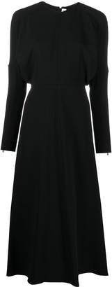 Victoria Beckham Dolman-Sleeve Midi Dress