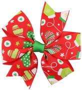 Gillberry Baby Girls Christmas Ornaments Bowknot Hairpin Headdress