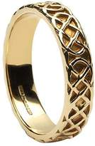 BORU Celtic Knot Wedding Ring Ladies 14K Irish Made Sz 6
