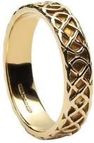 BORU Celtic Knot Wedding Ring Ladies 14K Irish Made Sz 8