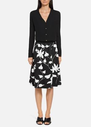 St. John Floral Jacquard Knit Skirt