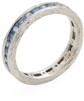 Elizabeth Showers Women's Silver & Blue Sapphire Birch Channel Stack Ring