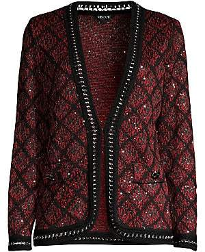 Misook Women's Heritage-Fit Mini Sequin & Tweed Jacket