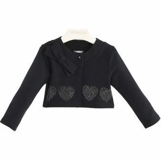 sarabanda HEATER in Sweatshirt with Hearts in Strass Black Girl K213 - Black - 4 Years