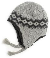 Muk Luks Women's Braided And Diamond Cable Tassel Helmet
