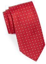 Black Brown 1826 Neat Dotted Silk Tie
