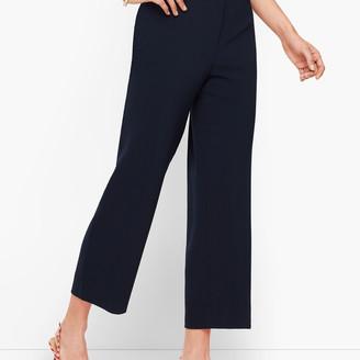 Talbots Straight Leg Crop Pants - Crepe