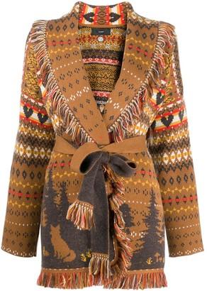 Alanui Forrest Knit Wrap Cashmere Cardigan