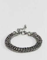 Designb London Designb Chain Bracelet In Gunmetal Exclusive To Asos