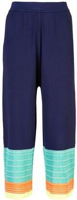 I Am Chen Colour-Block Cropped Trousers