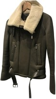 Porsche Design Khaki Shearling Jacket for Women