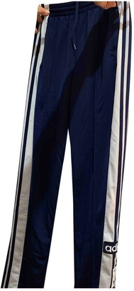 adidas Blue Cloth Trousers for Women