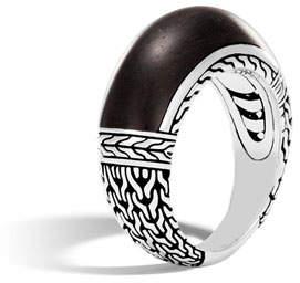 John Hardy Modern Chain Silver Large Ring, Size 7