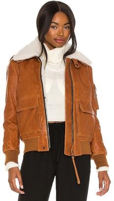 SAM. Fur Amelia Leather Bomber Jacket