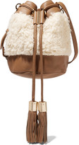 See by Chloe Small textured-leather and faux shearling shoulder bag