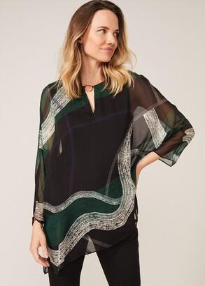 Phase Eight Alyssa Swirl Silk Blouse