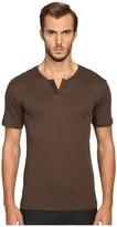 The Kooples Cotton Leather T-Shirt Men's T Shirt