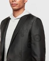 Express Slim Black Philadelphia 76Ers Nba Tuxedo Jacket