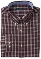 Nautica Men's Tartan Shirt with Button Down Collar