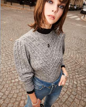 The Kooples Grey wool blend sweater with crew neck