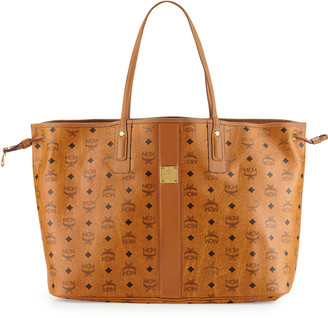 MCM Liz Large Reversible Visetos Shopper Tote Bag