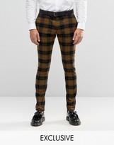 Heart & Dagger Super Skinny Smart Trousers In Oversized Check