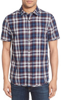 Jeremiah Colburn Regular Fit Short Sleeve Plaid Sport Shirt