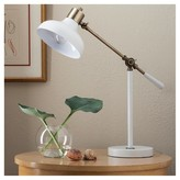 Threshold Crosby Schoolhouse Desk Lamp - White (Includes CFL Bulb