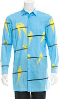 Issey Miyake Printed Button-Up Shirt w/ Tags