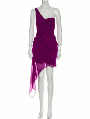 Diane von Furstenberg Silk Knee-Length Dress w/ Tags Purple