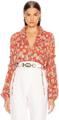 Alexis Zaria Top in Saffron Floral | FWRD