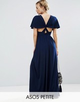 Asos Kimono Cross Back Maxi Dress with Side Splits