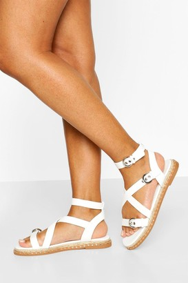 boohoo Buckle Detail Multi Strap Chunky Sandals