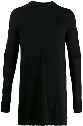 Rick Owens layered long-line knit top