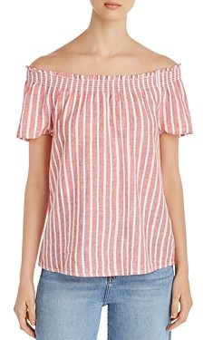 BeachLunchLounge Striped Off-the-Shoulder Top