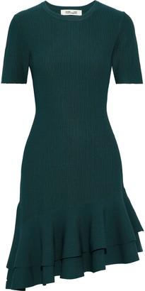 Diane von Furstenberg Adeline Ribbed-knit Mini Dress
