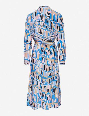 Emilio Pucci Printed silk-satin midi shirt dress