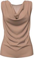 Bella Flore Women's Tunics TAUPE - Taupe Sleeveless Cowl Neck Tunic - Women