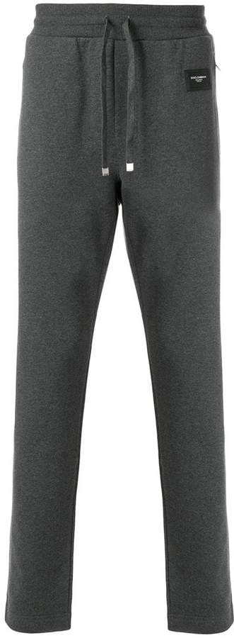 Dolce & Gabbana logo patch slim fit sweatpants