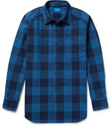 Beams Buffalo Checked Cotton-twill Shirt - Blue
