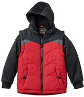 Pacific Trail Boys 4-7 Hooded Mock-Layer Long Sleeve Puffer Vest