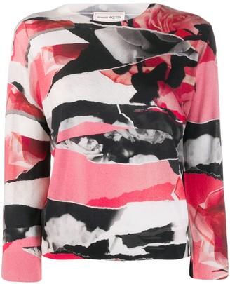 Alexander McQueen abstract print jumper