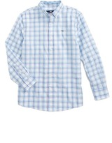 Vineyard Vines Boy's Pasea Plaid Whale Shirt