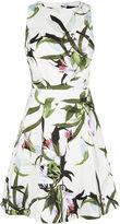 Karen Millen Lily Print Dress - White/multi