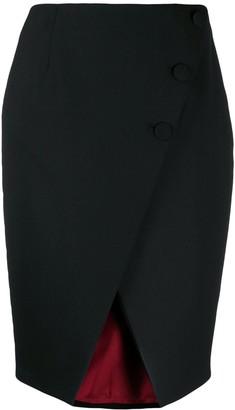 Sara Battaglia Button Detail Skirt