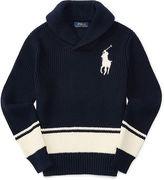 Ralph Lauren Cotton Shawl Sweater